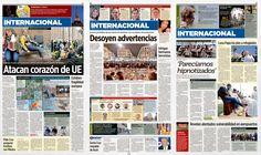 newspaper, attack, terrorism, belgium, brussels, clash, airport, graphic design, print design, diseño editorial, periódico