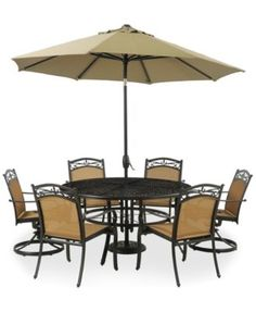 Paradise Outdoor Piece Set Round Dining Table And Dining - 7 piece outdoor dining set round table