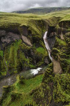 The irony, not.... Fjadrargljufur Canyon, Iceland photo via halldora