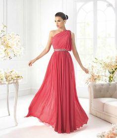 Special Price One Shoulder Bling Sash Crystal Sequins Red Chiffon Evening Dresses Formal Dress Gowns Red Chiffon, Beaded Chiffon, Bridesmaid Dresses, Prom Dresses, Formal Dresses, Wedding Dresses, Dress Prom, Long Dresses, Dress First