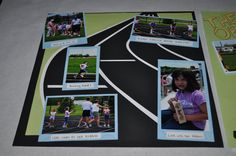 track & field scrap booking layouts | For this page I cut the track in the background out using the ...