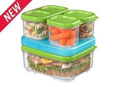 The kids LOVE these Rubbermaid LunchBloxes for their lunches!
