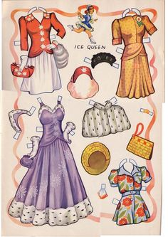 Kathleen Taylor's Dakota Dreams: Thursday Tab- Saalfield 1944- Festival Paper Dolls