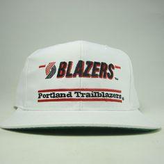Vintage Deadstock Portland Trail Blazers Split Bar Snapback By The Game.  Portland Trailblazers 63e8682b16
