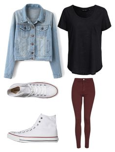 """""""Casual outfit"""" by eydan-eden on Polyvore featuring Topshop, Converse and New Look"""