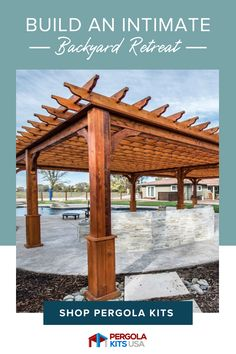 These Serenity Pergolas are a perfect way to enjoy your yard with family and friends. These are customizable and easy to put together anywhere you want it. #pergolas #outdoormakeover Cedar Pergola Kits, Wood Pergola, Diy Pergola, Landscaping Ideas, Backyard Landscaping, Red Cedar Lumber, Outdoor Dining, Outdoor Decor, Country Quotes