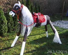 Bauernhof & Zoo - Holzpferd Paint Horse bewegliche Ohren Gesicht WOW - ein Designerstück von designwerkstatt-kirk bei DaWanda