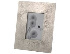 Lazy Susan 4 x 6 Silver Cement Frame