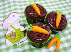 Receita de Cupcake de cenoura com chocolate