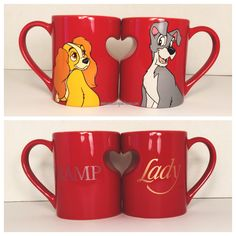 Disney Couples Heart 2 Mug Set