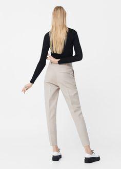 Прямые укороченные брюки