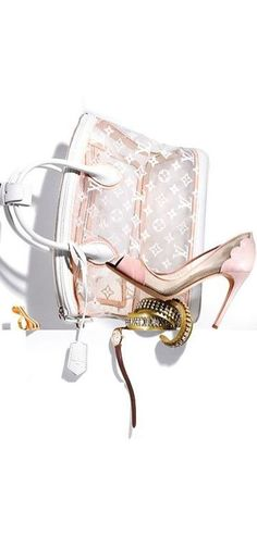 Louis Vuitton | ❤ Pink & White ❤)
