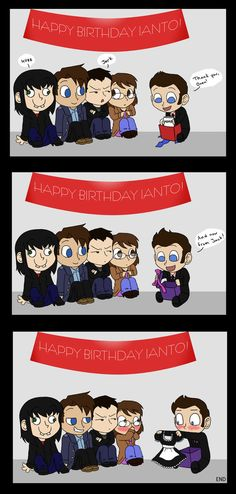 Ianto's Birthday - Oh Jack (Gwen is freaking hilarious, and characterized just perfectly) Torchwood Funny, Miguel And Tulio, Gareth David Lloyd, Captain Jack Harkness, Broadchurch, Bubbline, Sherlock Bbc, Fun To Be One, Doctor Who