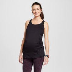 Women's Maternity Performance Long Tank Top - Black XL - C9 Champion