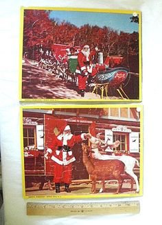 2 Vintage Santa Claus Christmas Jigsaw Puzzles by ourtimecapsule, $7.00