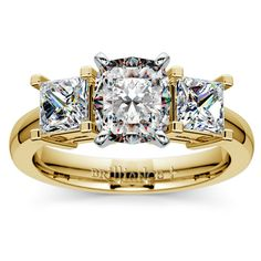 Cushion Princess Diamond Engagement Ring in Yellow Gold http://www.brilliance.com/engagement-rings/princess-diamond-ring-yellow-gold-1-ctw