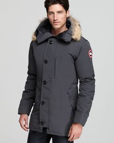 Canada Goose Chateau Parka with Fur Hood in Gray for Men (Graphite)