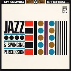 Vintage jazz album cover: Jazz & Swinging Percussion