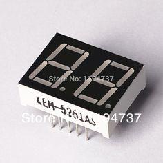 "10PCS/LOT Common Cathode 2Bit Digital Tube 7 segment 0.56"" Red LED Display #Affiliate"
