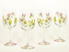 Check out this item in my Etsy shop https://www.etsy.com/listing/112092452/personalized-bridesmaid-wine-glasses