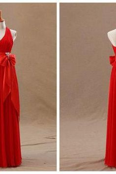 Backless Prom Dresses,Dresses For Prom,Chiffon Prom Dresses,Halter Prom Dresses,A-line Prom Dresses,Long Prom Dresses,Prom Dresses 2015,Red prom Dresses