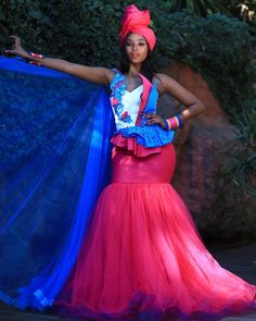 2020 African Traditional Dresses For Wedding Occasion Wedding Dress Styles, Dream Wedding Dresses, Different Dresses, Nice Dresses, African Beauty, African Fashion, Sepedi Traditional Dresses, African Wedding Attire, African Fabric