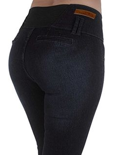 Style M652P Plus Size High Waist Design Butt lift Elastic Waist Skinny Jeans in Washed Black Size 24 -- Amazon most trusted e-retailer