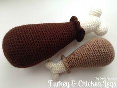 Free Crochet Amigurumi Pattern: Turkey & Chicken Legs