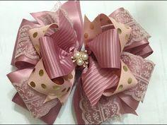 Moño elegante y grande VIDEO No.596 creaciones rosa isela - YouTube