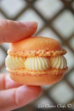 tangerine macarons