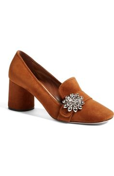4db2fbccf0c7 Prada Flower Loafer Pump (Women) available at  Nordstrom Fresh Shoes