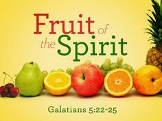 What to Write: Fruit of the Spirit