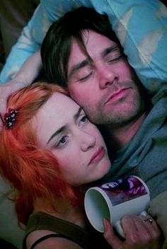 Clementine and Joel // as odd as it is this movie reminds me of us.