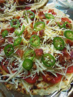 Bacon Tomato Flatbread with Avocado