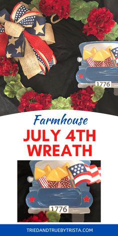 Super easy to make July 4th wreath - with supplies list and how-to guide