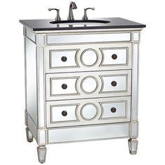 DuVall Mirrored Single Sink Vanity -
