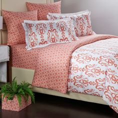 Found it at Wayfair - Bali Coral Duvet Collection