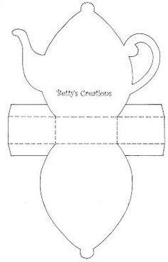 Bettys-creations: Teekanne mit Vorlage: