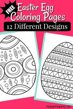 Free Printable Easter Egg Coloring Pages Easter Coloring Pages Printable, Easter Egg Coloring Pages, Spring Coloring Pages, Easter Printables, Easter Activities, Easter Crafts For Kids, Easter Ideas, Toddler Crafts, Easter Egg Template