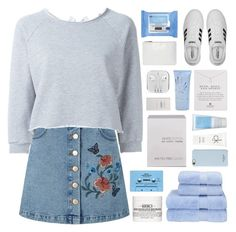 """""""wish i'd been a prom queen"""" by acquiescence ❤ liked on Polyvore featuring Miss Selfridge, GaÃ«lle Bonheur, Christy, Neutrogena, Korres, Omorovicza, CASSETTE, Nails Inc., Dogeared and adidas"""