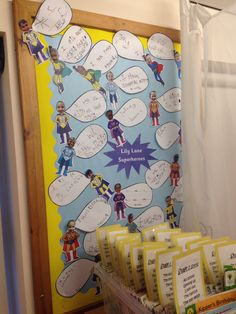 Superhero display Literacy Display, Teaching Displays, Class Displays, School Displays, Teaching Ideas, Superhero Writing, Superhero Classroom, Classroom Themes, Superhero Ideas