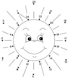 Connect the dots on the sun. Montessori Math, Preschool Curriculum, Kindergarten Math, Kids Activity Books, Learning Activities, Activities For Kids, Educational Games For Kids, Educational Websites, Sistema Solar