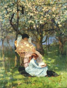 Convalescence in the Apple Orchard, 1885, Sir John Lavery