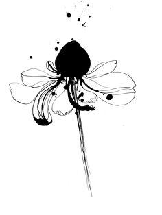 Black flowers, series for exhibition at Cinnober Copenhagen