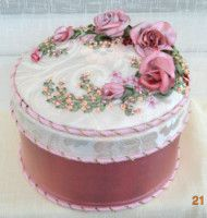 Trinket Box with Ribbon Embroidery.