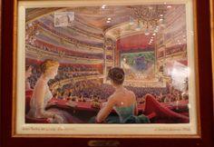Acuarela de un palco del Gran Teatre del Liceu (Barcelona), de Josep Mestres Cabanes