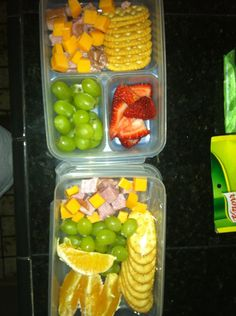 Homemade lunchables for the kiddos