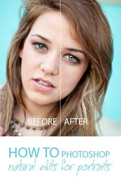 How to Edit Natural Looking Portraits using Photoshop!  A Bella Pop video tutorial :)