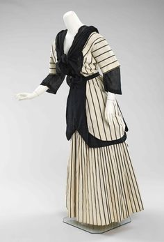 Striped summer day dress, American, 1912, Metropolitan Museum of Art.