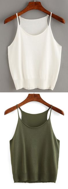 One of our must-have pieces of the season, $7.99,the Bright Morning Knit Cami Top is infused with casual style and summer color. Can't wait to have a try. Get more surprised ones at romwe.com